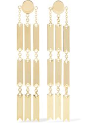 Arme De L'Amour - Lucky Gold-plated Earrings - Lyst