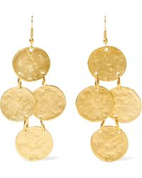 Kenneth Jay Lane - Gold-plated Earrings - Lyst