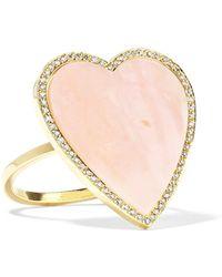 Jennifer Meyer - Heart 18-karat Gold, Opal And Diamond Ring Gold Us6 - Lyst