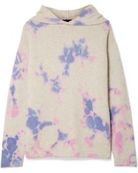 The Elder Statesman - Tie-dyed Cashmere Hooded Sweater - Lyst