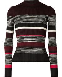 Proenza Schouler - Ribbed Striped Wool, Silk And Cashmere-blend Jumper - Lyst