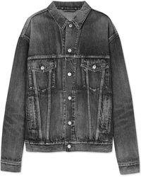 Balenciaga - Like A Man Oversized Embossed Denim Jacket - Lyst
