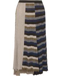 Sonia Rykiel - Metallic Striped Ribbed-knit Skirt - Lyst