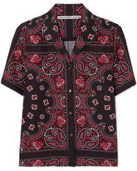 Alexander Wang - Printed Silk-crepe Shirt - Lyst