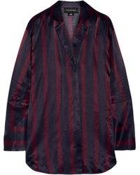 By Malene Birger - Fridari Striped Washed-satin Shirt - Lyst