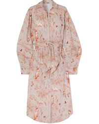 Johanna Ortiz - Vaucluse Belted Printed Cotton-poplin Shirt Dress - Lyst