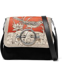 JW Anderson - Disc Printed Leather And Suede Shoulder Bag - Lyst