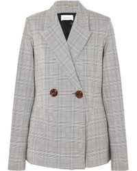 Georgia Alice - Memory Oversized Double-breasted Checked Woven Blazer - Lyst