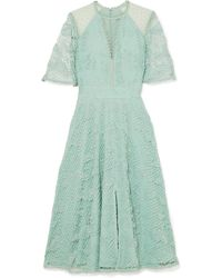 Temperley London - Haze Guipure Lace And Tulle Dress - Lyst