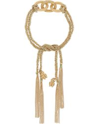 Carolina Bucci - Strength Lucky 18-karat Gold, Sapphire And Silk Bracelet - Lyst