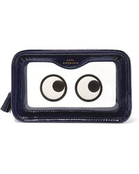 Anya Hindmarch - Rainy Day Appliquéd Perspex And Patent-leather Cosmetics Case - Lyst