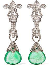 Amrapali | 18-karat Gold, Silver, Emerald And Diamond Earrings | Lyst