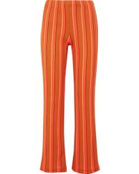 Simon Miller - Cyrene Striped Cotton-blend Flared Trousers - Lyst
