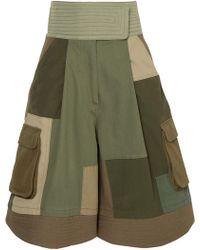 Valentino | Patchwork Cotton-blend Shorts | Lyst