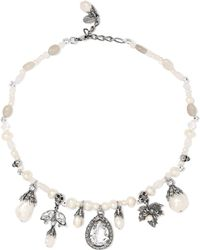 Alexander McQueen - Silver-plated, Faux Pearl, Crystal And Resin Necklace - Lyst