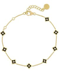 Amrapali - Mini Parashri 18-karat Gold, Enamel And Diamond Bracelet - Lyst