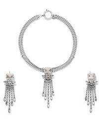 Isabel Marant - Silver-tone Crystal Necklace And Earrings Set - Lyst