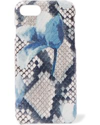 The Case Factory - Printed Snake-effect Leather Iphone 7 And 8 Case - Lyst