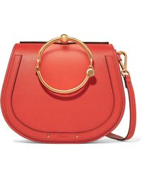 Chloé - Nile Bracelet Leather And Suede Shoulder Bag - Lyst