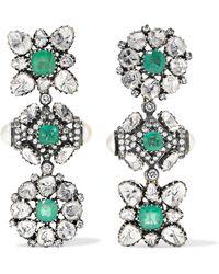 Amrapali - 18-karat Gold, Sterling Silver And Multi-stone Earrings - Lyst
