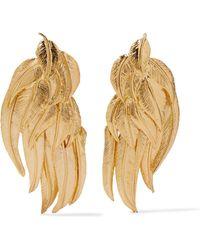 Aurelie Bidermann | Elvira Gold-plated Clip Earrings | Lyst