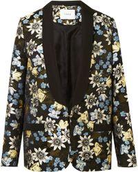Erdem - Anisha Floral Jacquard Jacket - Lyst