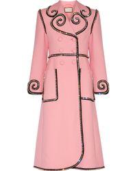 Gucci - Swarovski Crystal-embellished Wool Coat - Lyst