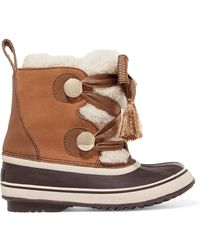 Chloé - Sorel X Women's Waterproof Suede & Shearling Lace Up Cold-weather Booties - Lyst