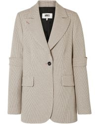 MM6 by Maison Martin Margiela - Checked Woven Blazer - Lyst
