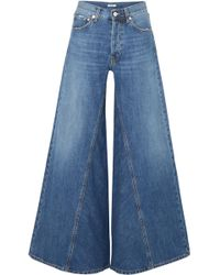 Ganni - Paneled Jeans - Lyst