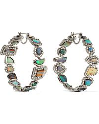 Kimberly Mcdonald - 18-karat White Gold, Opal And Diamond Earrings White Gold One Size - Lyst