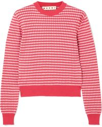 Marni - Crocheted Cotton Sweater - Lyst