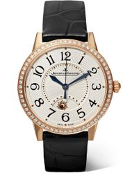 Jaeger-lecoultre - Rendez-vous Night & Day 34mm Rose Gold, Alligator And Diamond Watch Rose Gold One Size - Lyst