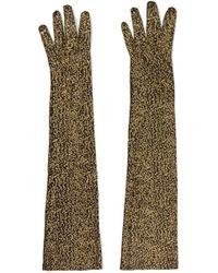 Gucci - Metallic Leopard-jacquard Gloves - Lyst