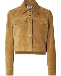 Acne | Cropped Suede Jacket | Lyst
