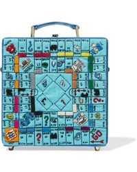 Olympia Le-Tan - Paris Game Board Embroidered Felt, Leather And Faille Tote - Lyst