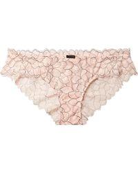 Eberjey - Rosario The Cheeky Stretch-corded Lace Briefs - Lyst