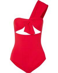 Marysia Swim - Venice Maillot One-shoulder Cutout Swimsuit - Lyst