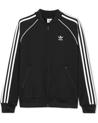adidas Originals - Striped Jersey Track Jacket - Lyst