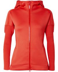 adidas By Stella McCartney - Z.n.e. Ribbed Knit-paneled Stretch-jersey Hooded Top - Lyst