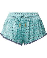 Paloma Blue - Paloma Printed Silk-satin Shorts - Lyst