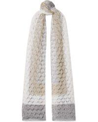 Missoni - Metallic Crochet-knit Wrap - Lyst