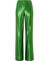 Jason Wu - Satin Wide-leg Trousers - Lyst