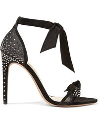 Alexandre Birman - Clarita Embellished Suede And Mesh Sandals - Lyst