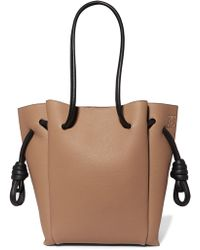Loewe - Flamenco Small Textured-leather Tote - Lyst