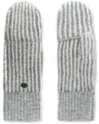 Rag & Bone - Jonie Striped Ribbed-knit Mittens - Lyst