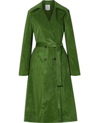 Rosie Assoulin - Piano Pleats Cotton-blend Corduroy Trench Coat - Lyst