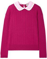 Paul & Joe - Cable-knit Wool Sweater - Lyst
