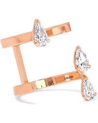 Repossi - Serti Sur Vide 18-karat Rose Gold Diamond Ring - Lyst