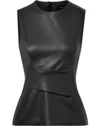 Narciso Rodriguez - Gathered Leather Top - Lyst